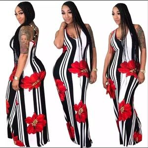 Women's Boho Casual Long Plus Size Summer Dresses